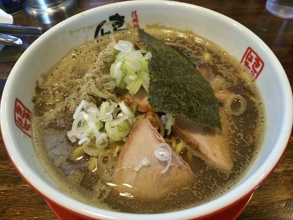 「ど煮干し中華そば (大盛り:サービス券)」@信州麺屋 きまはち商店の写真