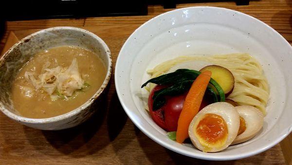 「無添加味玉つけ麺(中)」@つけ麺 竹川の写真