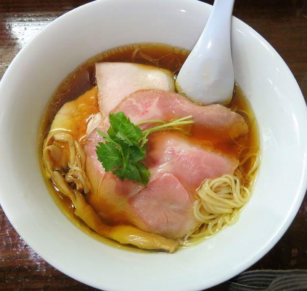 「鶏そば+チャーシュー(950円)」@らぁめん サンドの写真