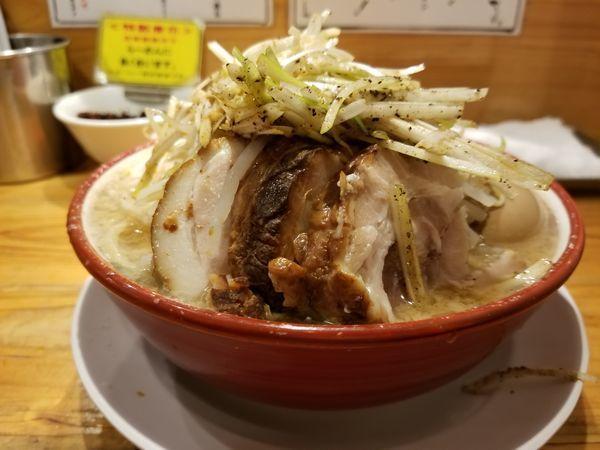 「ネギらーめん+味玉(1,000円)」@らーめん バリ男 日本橋店の写真
