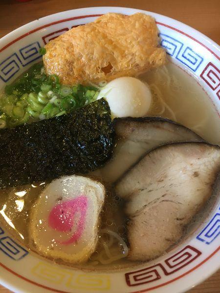 「伯方の塩ラーメン+貝飯のセット¥800」@さんわ 松山中央店の写真