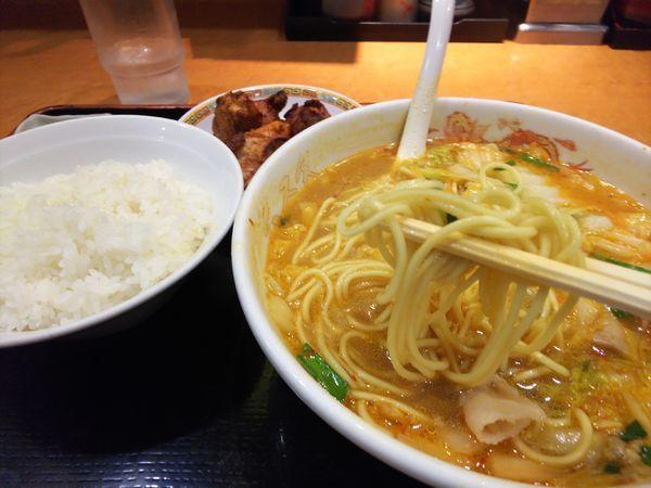 「スタミナラーメンセット小(ライス+から揚げ)980円」@天理スタミナラーメン 本店の写真