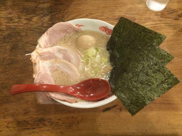 「東京背脂特製らーめん アブラ普通」@らーめん 福たけの写真