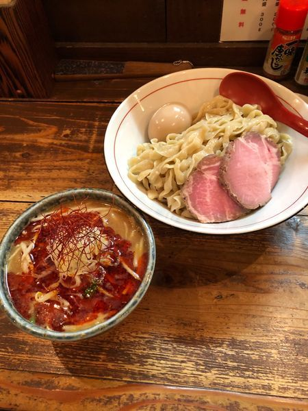 「特製辛味噌つけ麺 大」@東京味噌らーめん 鶉の写真
