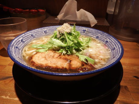 「飛魚熟玉そば 熟玉なし」@必死のパッチ製麺所の写真