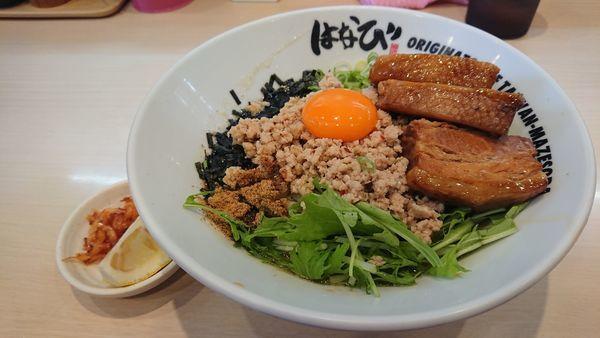 「トロ肉鶏塩台湾まぜそば@1170円」@麺屋 はなび 弥富店の写真
