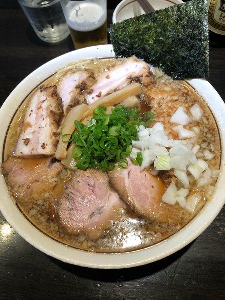 「肉煮干し中華そば大 1150円」@中華そば しながわの写真