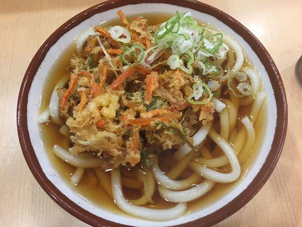 「野菜かき揚うどん¥370」@そばの神田 東一屋 名掛丁店の写真