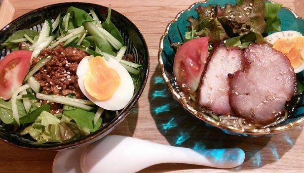 「【限定】梅風味冷やしそば&冷やし担々麺 1000円」@麺者 雄の写真