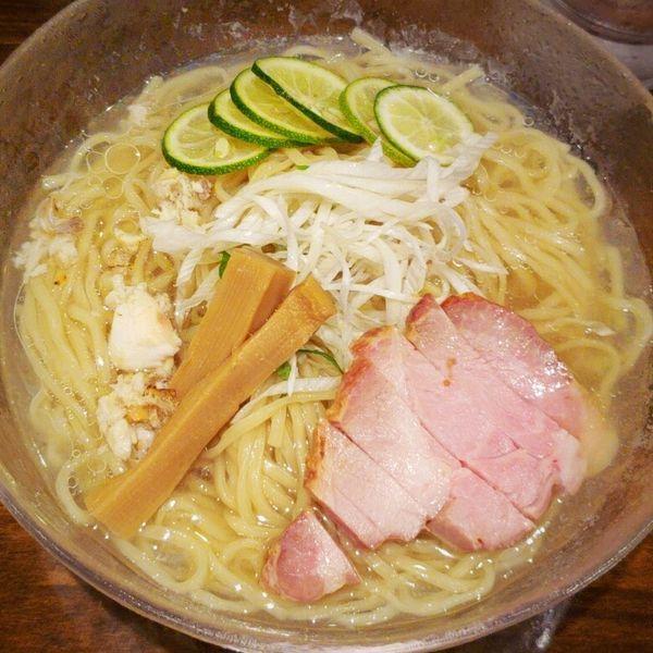 「冷製鯛そば(塩・大盛)800円」@活龍 期間限定麺処 みつきの写真