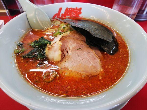 「辛味噌ラーメン辛さMAX(クーポン、チャーシュー)」@ラーメン山岡家 羽生店の写真