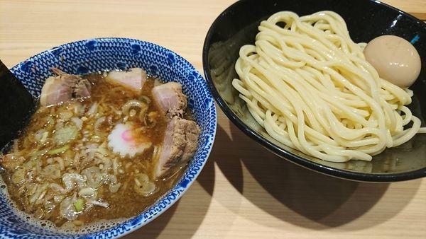 「つけめんチャーシュー+味玉(1250円)」@頑者の写真