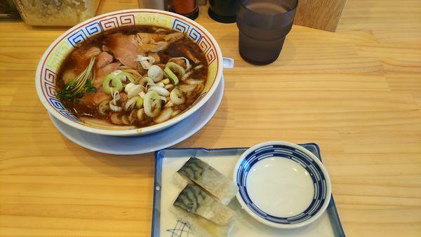 「サバ醤油そば+サバ寿司(1,050円)」@サバ6製麺所 仙台中倉店の写真