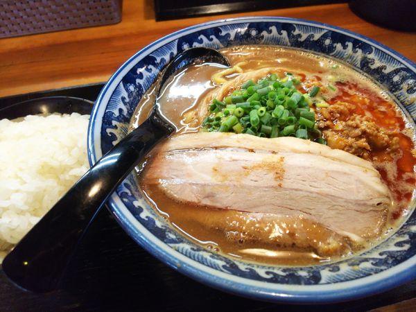「安養寺あぅめん+サービス小ライス780円」@麺匠 佐蔵 佐久店の写真