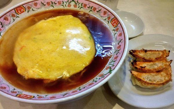 「天津麺+餃子3ヶ」@餃子の王将 石川町店の写真