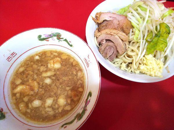 「小(麺少なめ)+つけ麺(ノーマル) 750+150円」@ラーメン二郎 札幌店の写真