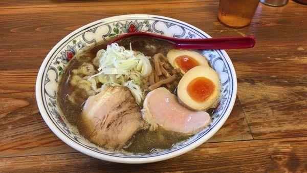 「煮干味玉」@くじら食堂の写真