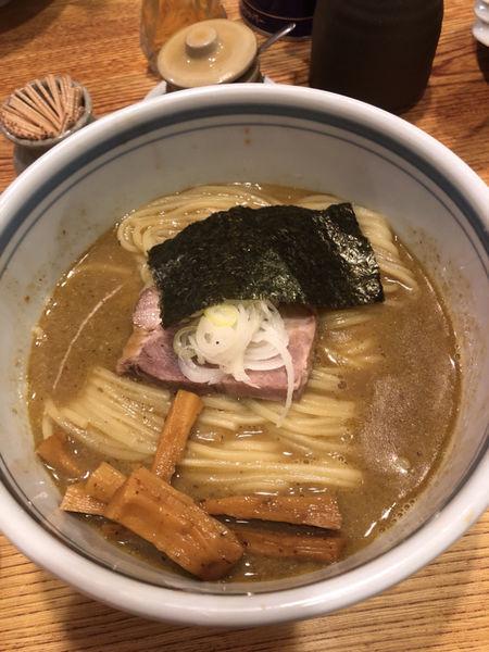 「らーめん680円+焼き餃子+カールスバーグ」@こうかいぼうの写真