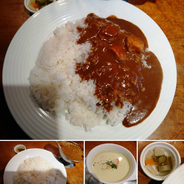 「チキンカレー(大盛) 1480円」@レストラン大宮の写真