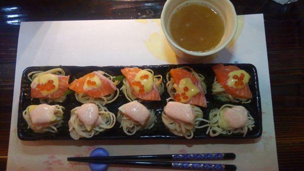 「麺寿司真子の舞(限定)とハラコ飯」@ラーメン246亭の写真