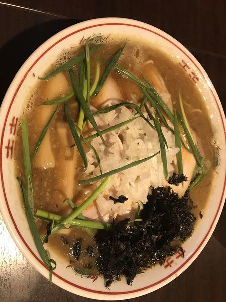 「濃厚肉煮干しそば」@コマツ中華蕎麦店の写真