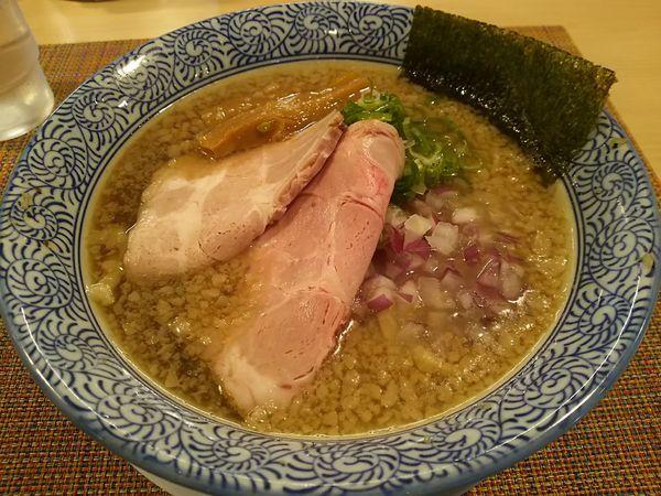 「背脂煮干そば (並盛) ※太麺」@らーめん セアブラノ神 壬生本店の写真