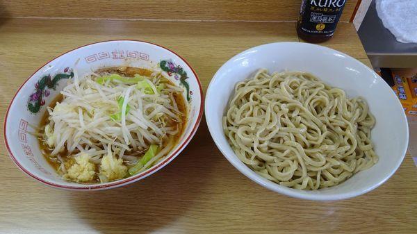 「ラーメン(700円)+つけ麺(150円)ニンニク」@ラーメン二郎 栃木街道店の写真