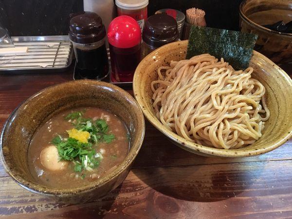 「つけ麺味玉入り大盛」@麺屋 えん寺の写真