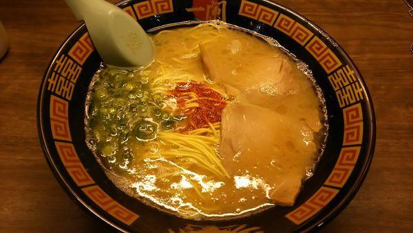 「ラーメン+替玉」@一蘭 横浜西口店の写真