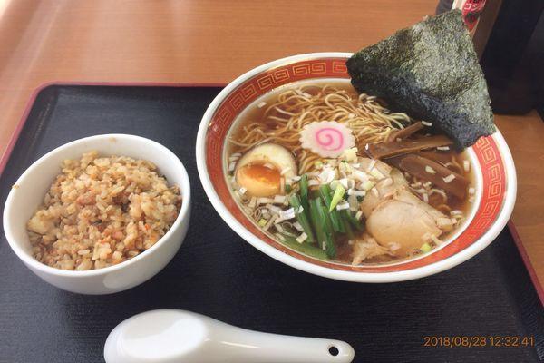 「Cセット(半チャンラーメン) 780円」@タイガー食堂 浦安の写真