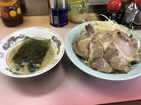 「ネギチャーシューつけ麺」@ラーメンショップ 鹿浜の写真
