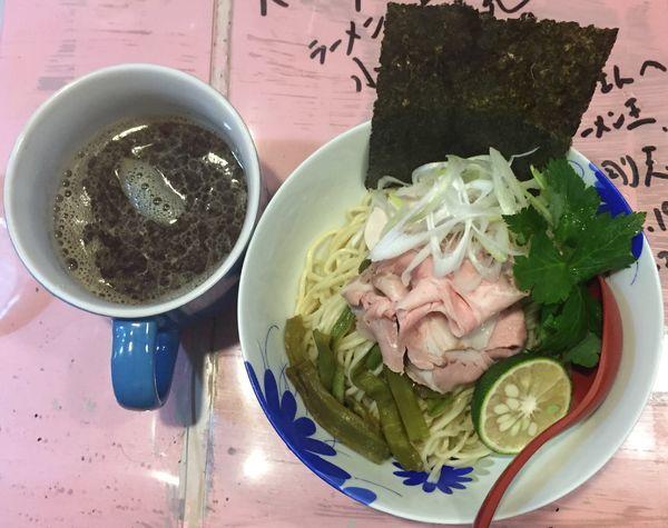 「凛々しい煮干カップつけソバ800円」@らーめん凛々の写真