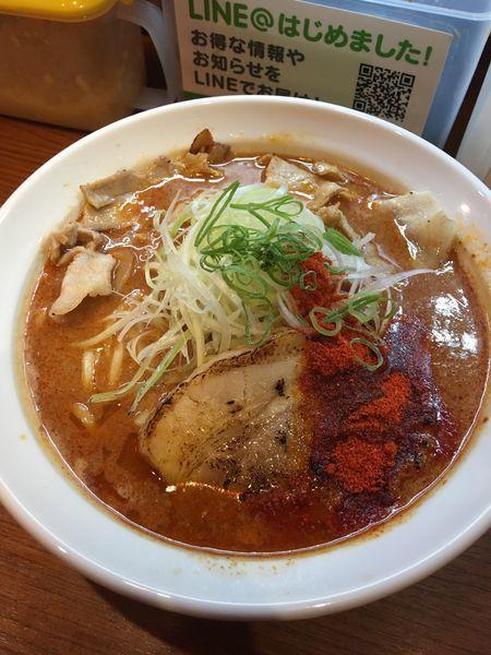 「辛口炙り肉ソバ味噌」@辛口炙り肉ソバ ひるドラ 鶴橋店の写真