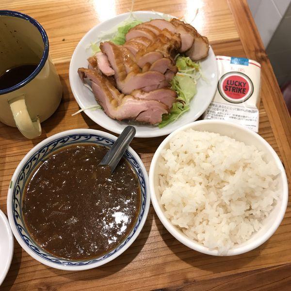 「麻辣香咖喱飯(カリカリ鶏の麻辣カレー)」@老酒舗の写真