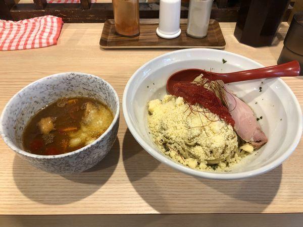 「バジルとトマトの味噌つけ麺」@拉麺 大公の写真