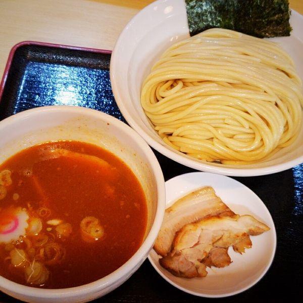 「つけ麺(辛い)810円」@麺処 くろ川の写真