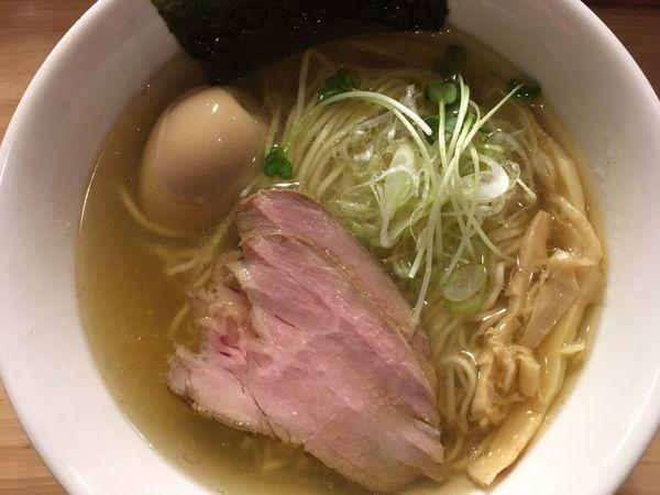 「半熟味玉香味そば・塩 920円」@麺屋 白鷺 -shirasagi-の写真