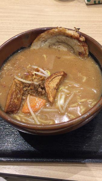 「北海道味噌らーめん」@蔵出し味噌 麺場 田所商店 談合坂サービスエリア店の写真
