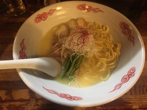 「鶏白湯ラーメン(大盛)」@麺・酒処 ぶらりの写真