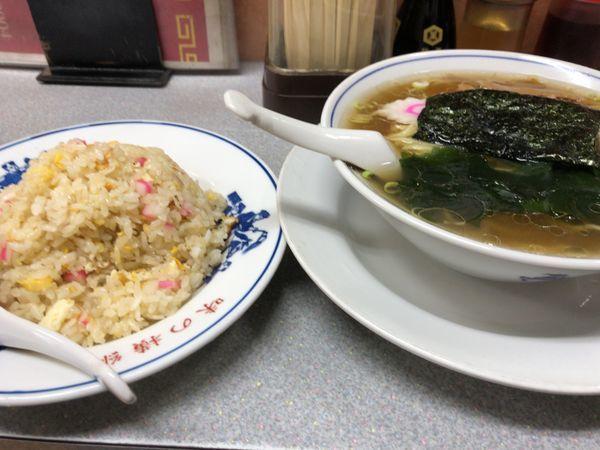 「半チャーハンラーメン880円」@味の横綱の写真