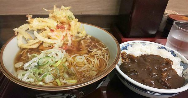 「そば定食+かき揚げ」@船堀そば 文殊の写真