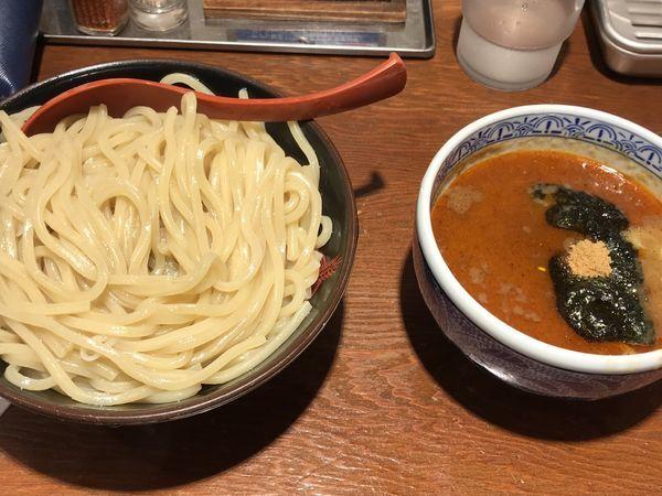 「辛つけ麺(大)」@つけ麺専門店 三田製麺所 渋谷道玄坂店の写真