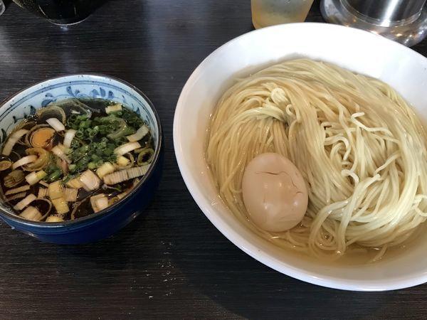 「【限定】昆布水の淡麗つけ麺&味玉&大盛」@麺処 ほん田 nijiの写真