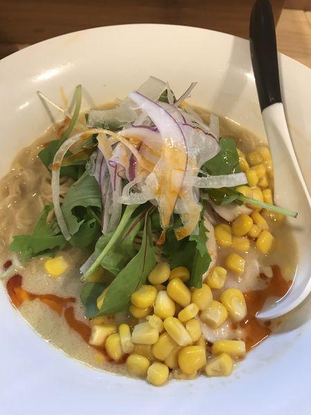 「【限定】渡り蟹とトウモロコシの冷やしそば 950円」@麺屋Mの写真