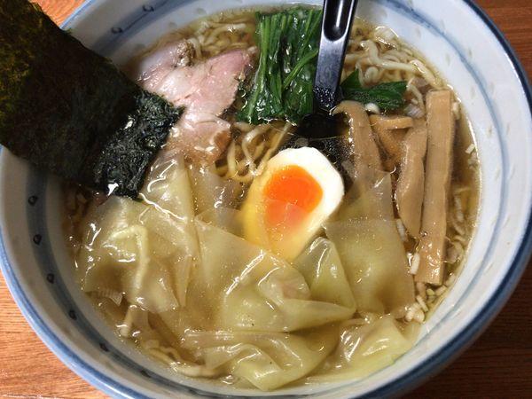 「ワンタン麺」@奥州白河ラーメン ○政の写真