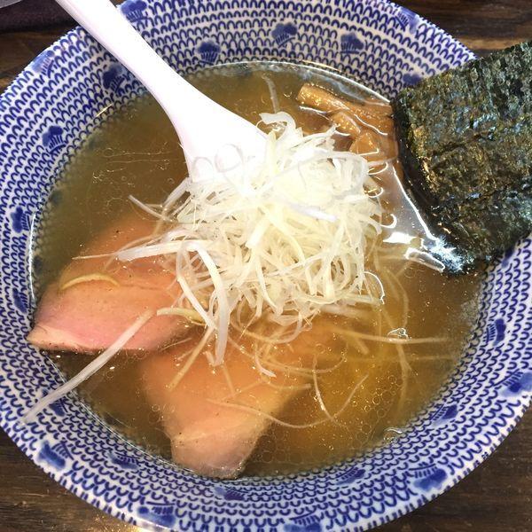 「塩らーめん 半麺 730円」@麺心 國もとの写真