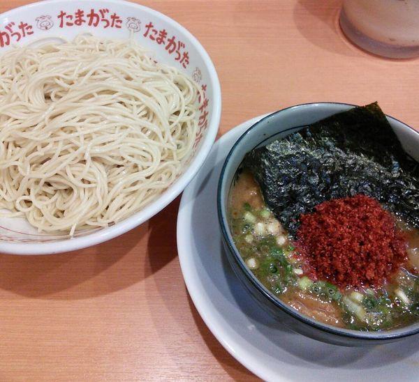 「【限定】辛つけ麺 800円」@九州大分らぁめん たまがった 神奈川新町本店の写真