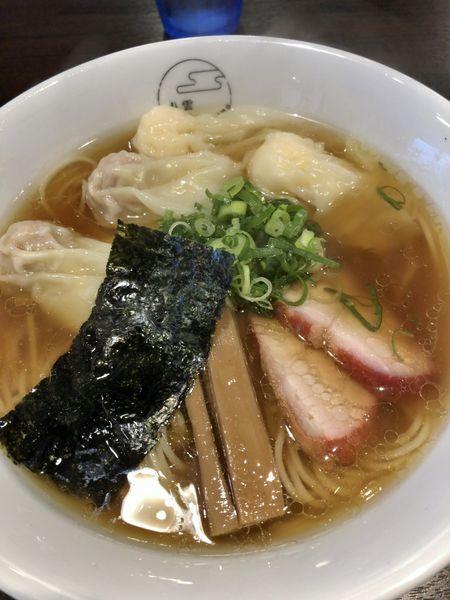 「特製ワンタン麺(ハーフ&ミックス)¥1000」@八雲の写真