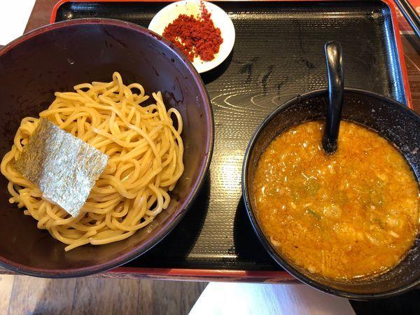 「赤辛味噌つけ麺」@らーめん えん者の写真