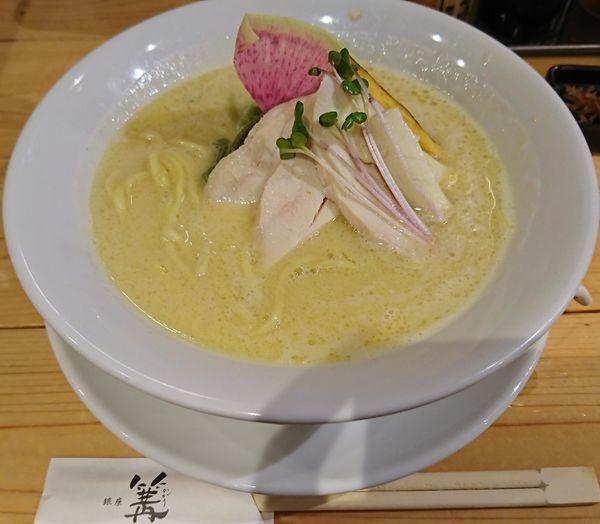「鶏白湯SOBA(950円)」@銀座 篝 アトレ浦和店の写真